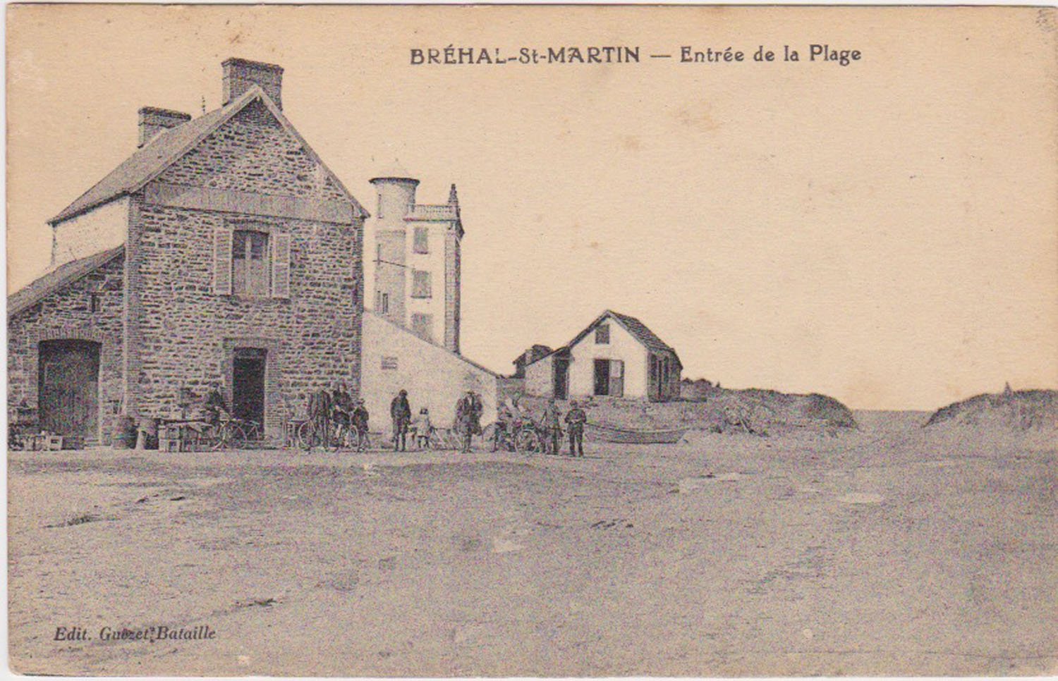 1910 St Martin Entrée Plage © collection Jean Claude Ferret