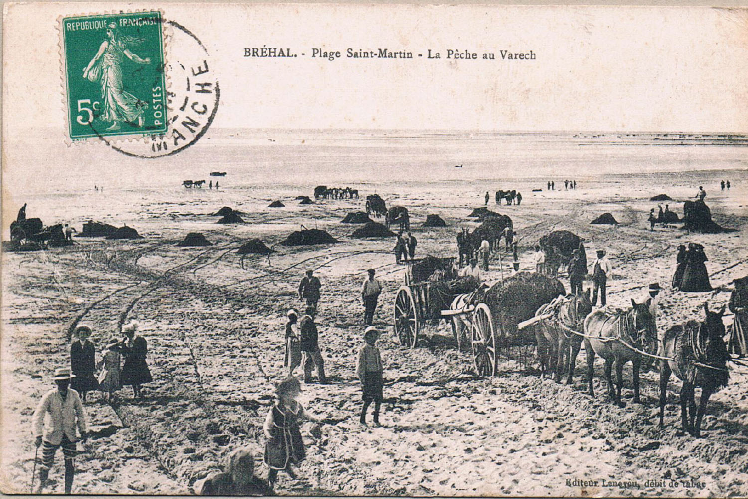 1910 St Martin Ramassage Varech 2 © collection Hervé Cleraux