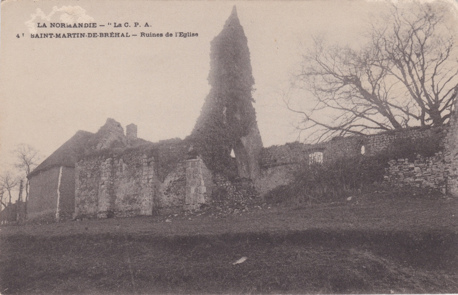 1924 Vieux St martin Eglise © collection Jean Claude Ferret