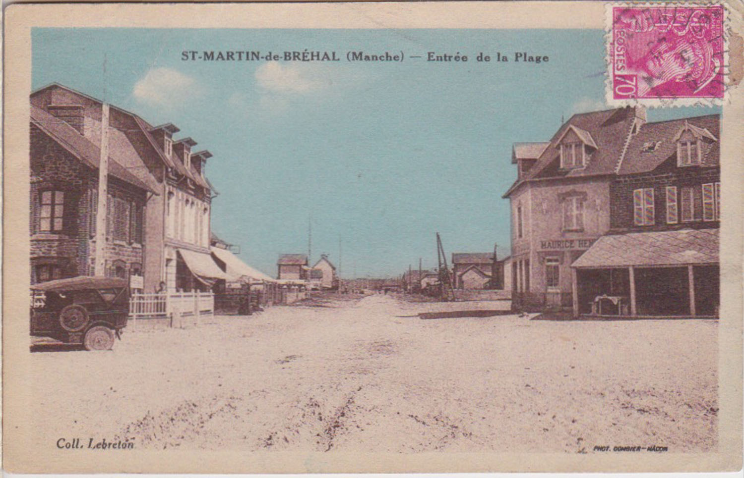 1926 St Martin Entrée Plage © collection Jean Claude Ferret