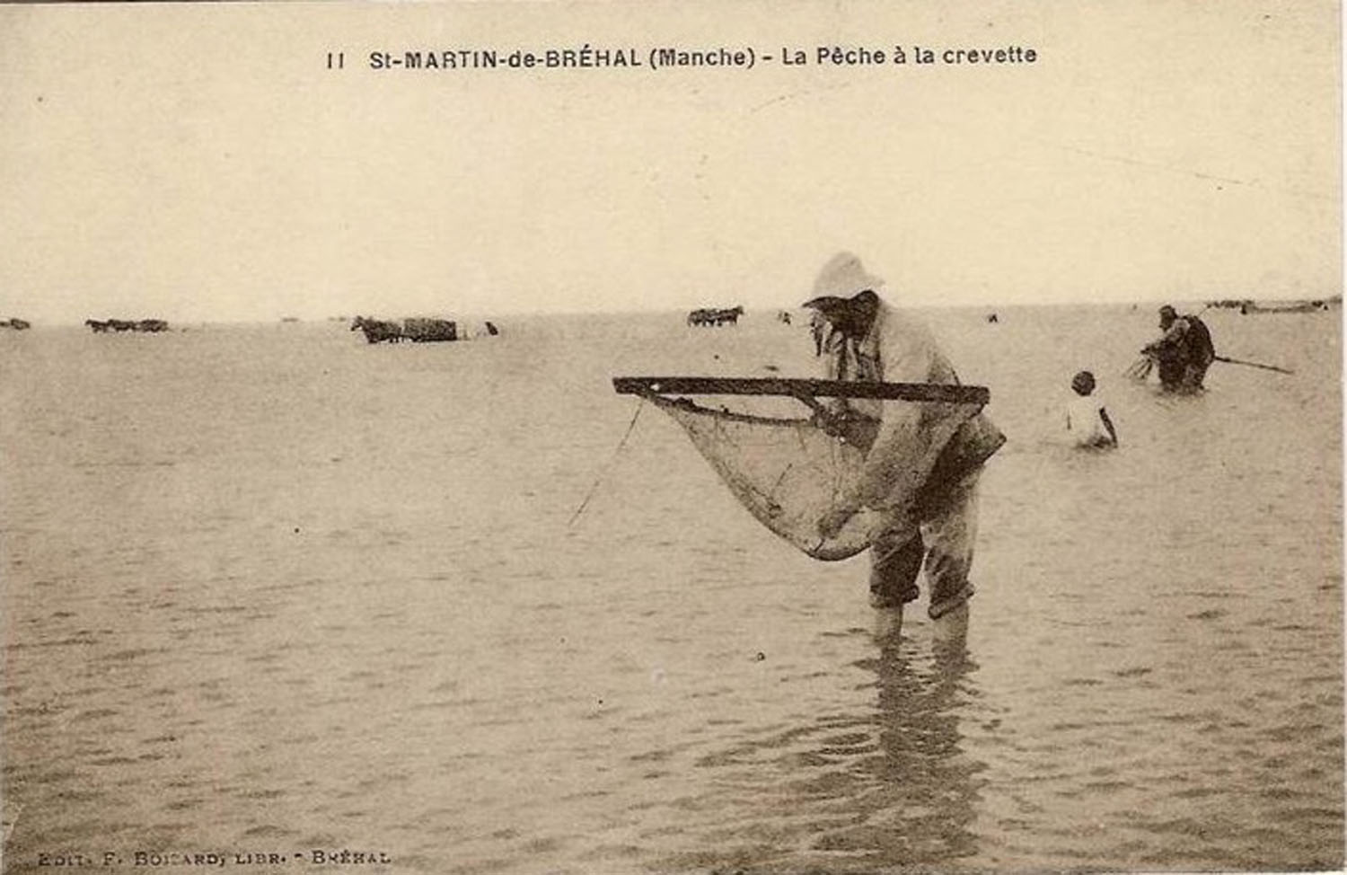 1935 St Martin Pêche Crevettes © collection Jean-Claude Ferret