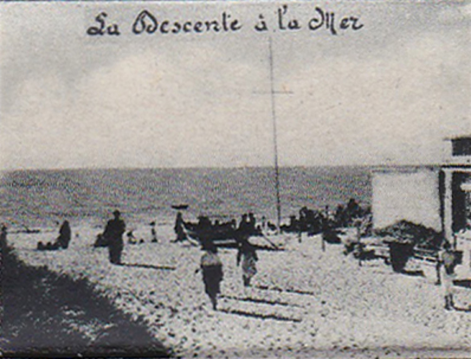 1950 St Martin Dépliant On s'amuse sous le maillot Entrée plage © collection (...)