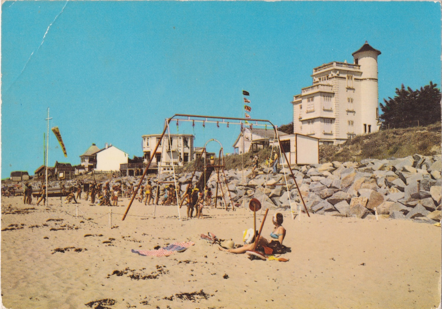 1976 St Martin Littoral Entrée plage © collection Jean Claude (...)